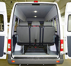 Mercedes-Benz Sprinter Classic Minibus Express микроавтобус место для багажа сзади и под диванами
