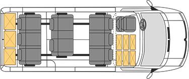 Mercedes-Benz Sprinter Classic Minibus Express схема салона