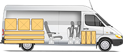 Mercedes-Benz Sprinter Classic Minibus Express микроавтобус длинномерные грузы и 3+1 мест