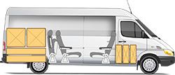 Mercedes-Benz Sprinter Classic Minibus Express микроавтобус удлиненный грузовой отсек и 5+1 мест