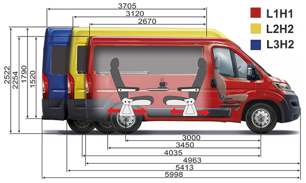 Fiat Ducato Tour Transformer 5 in 1 пассажирский микроавтобус 9 мест